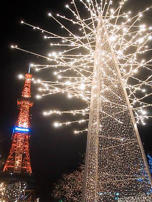 札幌 さっぽろホワイトイルミネーション 写真