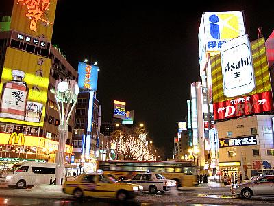 札幌 すすきの交差点 写真
