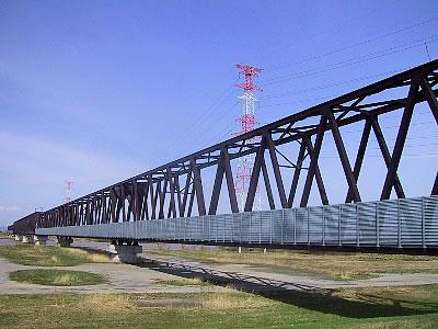 学園都市線|石狩川鉄橋|写真