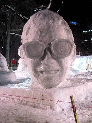 タモリの雪像(さっぽろ雪まつり)