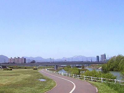 札幌|豊平川サイクリングロード|写真