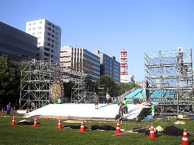 札幌 YOSAKOI準備中 写真