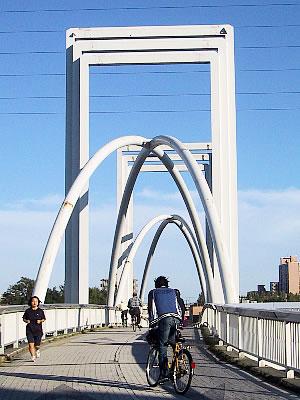 札幌 白石サイクリングロード 環状夢の橋