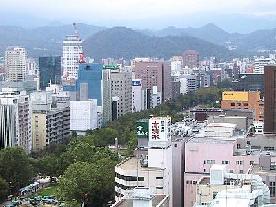 札幌市役所屋上展望回廊 写真